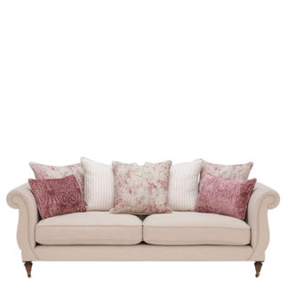 An Image of Drew Pritchard Atherton Pillow Back 4 Seater Sofa - Barker & Stonehouse