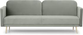 An Image of Eulia Click Clack Sofa Bed, Sage Green Velvet