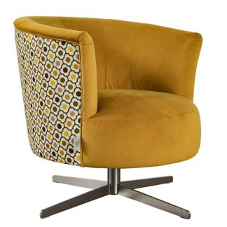 An Image of Orla Kiely Lily Swivel Chair