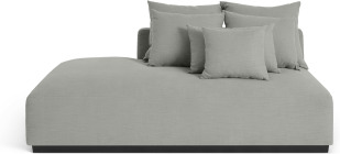 An Image of Laurin Left Hand Facing Wide Chaise End Sofa Unit, Frost Grey Linen