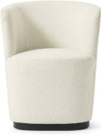 An Image of Revy Dining Chair, Whitewash Boucle