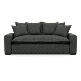 An Image of Heal's Brompton 3 Seater Sofa Brecon Charcoal Black Feet