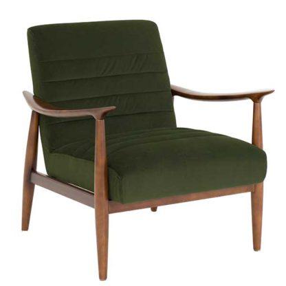 An Image of Hockney Velvet Armchair