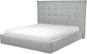 An Image of Lamas Super King Size Bed with Storage Drawers, Wolf Grey Wool