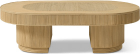 An Image of Azrou Oval Coffee Table, Natural Cane
