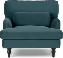 An Image of Tamyra Loveseat, Steel Blue Velvet