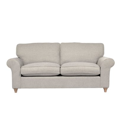 An Image of Rosa Fabric 3 Seater Sofa Grey