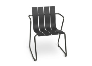 An Image of Mater Ocean Outdoor Chair Black