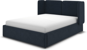 An Image of Ricola Super King Size Ottoman Storage Bed, Dusk Blue Velvet