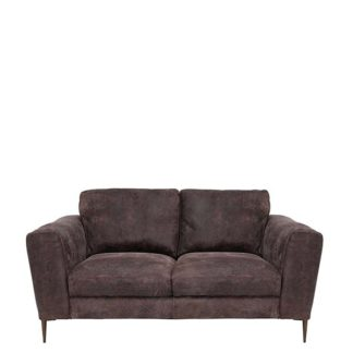 An Image of New Troy Leather Loveseat - Barker & Stonehouse