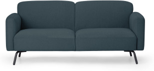 An Image of Toula 2 Seater Sofa, Aegean Blue
