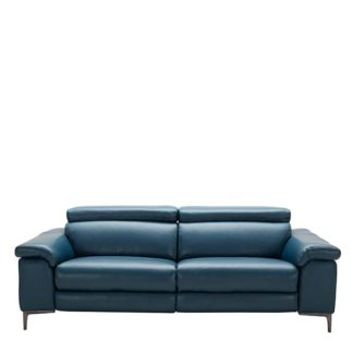 An Image of Paolo Leather 3.5 Seater Sofa - Barker & Stonehouse