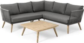 An Image of Garden Corner Lounge Set, Grey