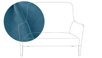 An Image of Pinch Pendel 2 Seater Sofa Varese Velvet Alchemilla Oak Feet