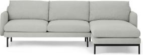 An Image of Miro Right Hand Facing Chaise End Corner Sofa, Venetian Grey