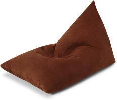 An Image of Andra Bean Bag, Russet Corduroy Velvet