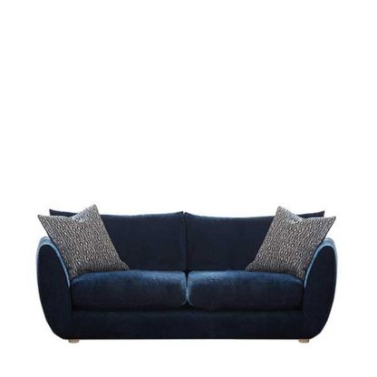 An Image of Big Blue Small Sofa - Barker & Stonehouse