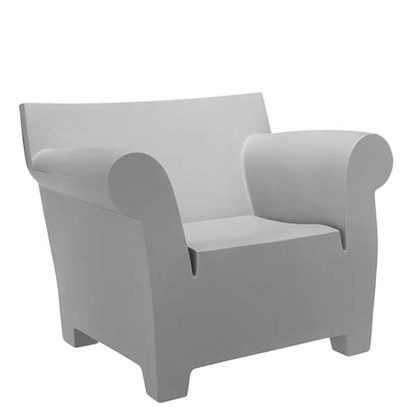 An Image of Kartell Bubble Armchair Light Grey