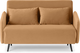 An Image of Hettie Small Sofa Bed, Apricot Velvet