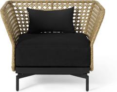 An Image of Balawa Garden Armchair, Natural & Grey
