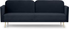 An Image of Eulia Click Clack Sofa Bed, Twilight Blue Velvet