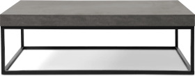 An Image of Odom Coffee Table, Concrete Effect & Black Steel