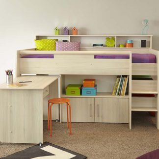 An Image of Rylie Childrens Midsleeper Cabin Bed