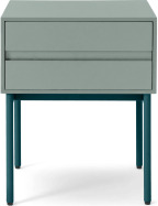 An Image of Donica Bedside Table, Concrete Blue