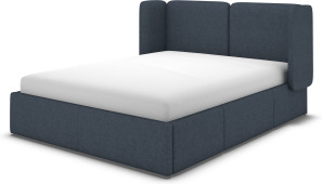 An Image of Ricola Super King Size Bed with Storage Drawers, Shetland Navy Wool