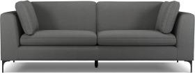An Image of Monterosso 3 Seater Sofa, Elite Grey with Black Leg