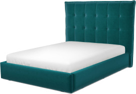 An Image of Lamas Double Ottoman Storage Bed, Tuscan Teal Velvet