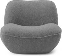 An Image of Sete Accent Armchair, Steel Boucle