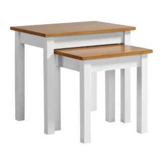 An Image of Ludlow White Nest of Tables White/Brown