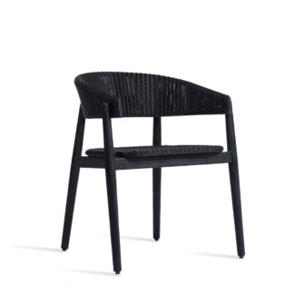 An Image of Vincent Sheppard Mona Outdoor Dining Chair Black