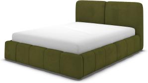 An Image of Maxmo Double Ottoman Storage Bed, Nocellara Green Velvet
