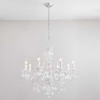 An Image of Vogue Clarence 8 Light Chandelier Chrome