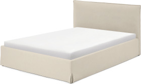 An Image of Orsa King Size Ottoman Storage Bed, Natural Cotton & Linen Mix