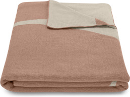 An Image of Isola 100% Cotton Knitted Throw, 130 x 170cm, Pink