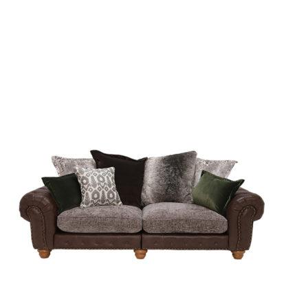 An Image of Melville Large Split Frame Pillow Back Sofa - Barker & Stonehouse