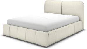 An Image of Maxmo Double Bed with Storage Drawers, Putty Cotton