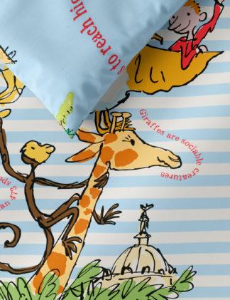 An Image of M&S Roald Dahl™ & Nhm™ Pure Cotton Giraffe Bedding Set