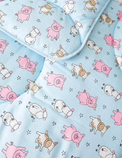 An Image of M&S Percy Pig™ 10.5 Tog Coverless Duvet & Pillowcase