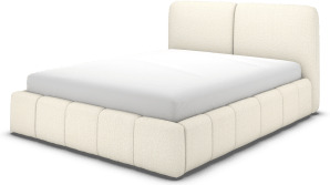 An Image of Maxmo Double Ottoman Storage Bed, Ivory White Boucle