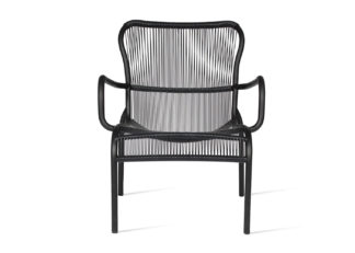 An Image of Vincent Sheppard Loop Outdoor Lounge Chair Black