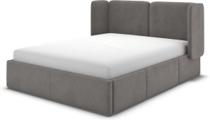 An Image of Ricola Super King Size Bed with Storage Drawers, Steel Grey Velvet
