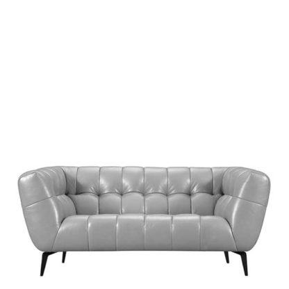 An Image of Azalea 2 Seater Leather Sofa - Barker & Stonehouse