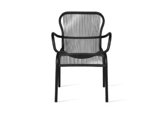 An Image of Vincent Sheppard Loop Outdoor Dining Chair Black