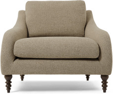 An Image of Andrin Armchair, Mink Eco Weave