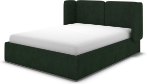 An Image of Ricola Super King Size Ottoman Storage Bed, Bottle Green Velvet