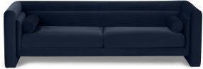 An Image of Mathilde 3 Seater Sofa, Dark Navy Velvet